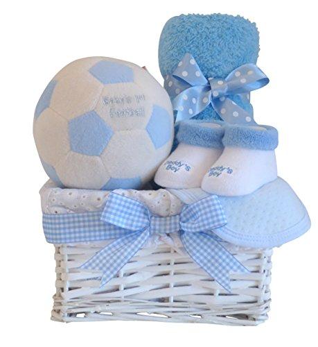 Bébé Première Football Panier Cadeau/Cadeau Bleu Panier/Panier/Cadeau/Panier de douche pour bébé 2014pour bébé/Cadeau Maternité/bébé/Souvenir envoi rapide