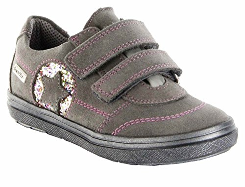 Richter Kinder Halbschuhe grau Velour Sympatex Mädchen-Schuhe 4432-621-6611 Ilva Grau