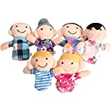 Magnusdeal® New Family Finger Puppet- Set Of 6 (Family) Story Set Toy Gift For Kids Baby