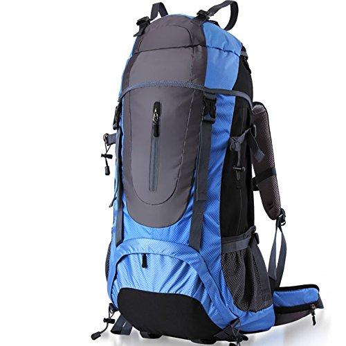 Fhtd borsa da alpinismo sportivo professionale da 60 litri zaino da viaggio sportivo da viaggio outdoor attività paio borsa borsa da trekking,blue