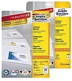Avery Zweckform 6122-3475 Adressetiketten (A4, Papier matt, 5520 Etiketten, 70 x 36 mm)