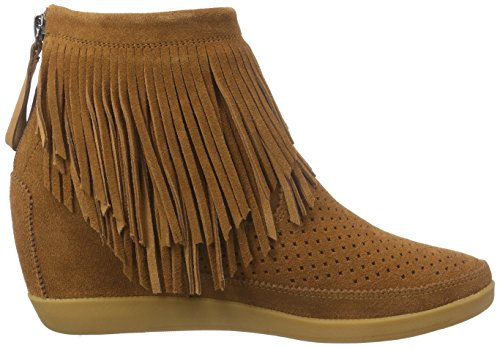 Shoe the Bear Emmy Fringes, Baskets Basses Femme Marron (Brown)