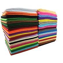 40 Hojas de Fieltro No Tejido Tela Fieltro Suave de Acrílico para Manualidades Patchwork Costura DIY Craft Trabajo 30*30cm Espesor 1,4mm Colores Mixtos with Hilos de Colores Set