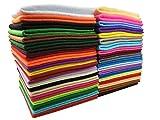 40Pcs Filzstoff Farbig Bastelfilz Weich Vliesstoff DIY