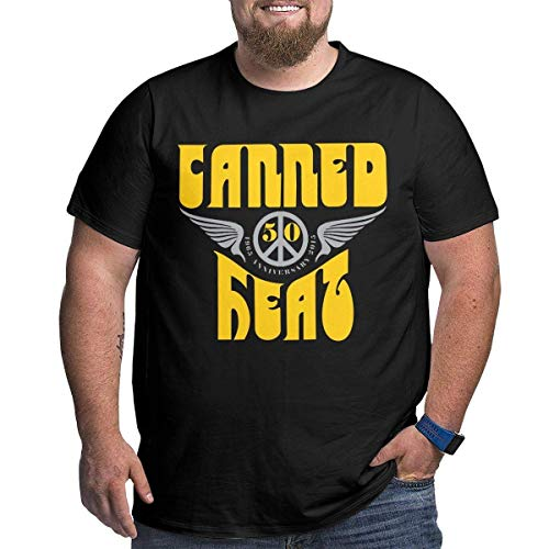KDHRTI Herren Kurzarmshirt, Men's Plus Size T-Shirt Canned-Heat Crewneck Short Sleeves Classic Printed Black Tops - Ucla-t-shirt Jersey