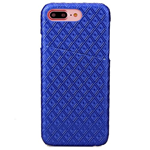 iPhone Case Cover Crocodile Texture Pattern Portefeuille Stand Case Rétro Flip Portefeuille Stand Case pour Apple IPhone 7 Plus ( Color : Blue , Size : IPhone7 Plus ) Blue
