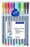Staedtler Triplus Fineliner, 10Stück, verschiedene Farben (334SB10)