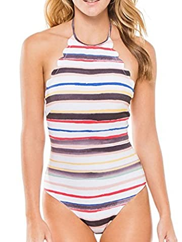 Blooming Jelly Women's Scallop One Piece Swimsuit Bathing Suit Monokini Swimming Costume