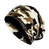 Sense42 | Long Beanie Jersey Mütze | lange Beaniemütze für Damen und Herren | camouflage | Oliv weiß, grau schwarz, olive braun, khaki oliv, grau braun, khaki beige