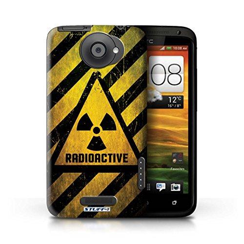 Kobalt® Imprimé Etui / Coque pour HTC One X / Décès/Faucheuse conception / Série Signes de Danger Radiation