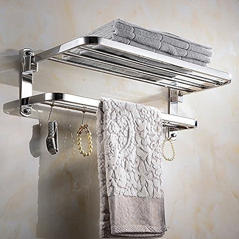In acciaio inox appeso bagno asciugamano piegato asciugamano rack bagno Mensola portasciugamani in acciaio inox 600mm