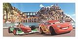 Keilbild Wandbild Leinwand CARS 2 | Disney | Lightning McQueen | Bernoulli | 33x70 cm