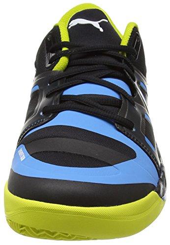Puma Evoimpact 1, Chaussures indoor homme Noir - Schwarz (black-white-sulphur spring-cloisonné 02)