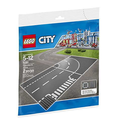 LEGO City Town T-Junction and Curve Plate 7281 Building Kit  available at amazon for Rs.1095