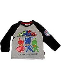 PJ Masks Camiseta de Manga Larga - Cuello Redondo - Para Niño