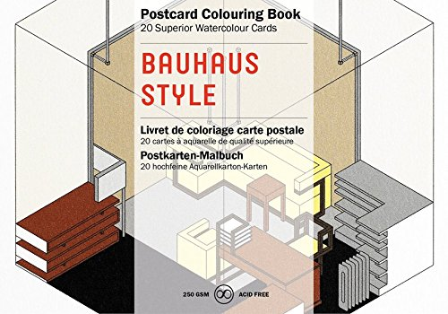 Bauhaus Style: Postcard Colouring Book / Postkarten - Malbuch (Postcard Colouring Books)