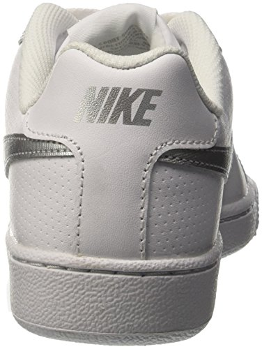 Nike Wmns Court Royale, Chaussures de Sport Femme, White / Metallic Silver, Media Bianco (Blanco (White / Metallic Silver))