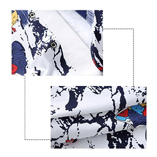 f188c531f995 ... YOUTHUP Herren Sommerhemd Hawaiihemd Kurzarm Hemd Blatthemd Freizeit  Hemd Besonders für Reise Urlaub Design 5