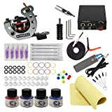 tattoo maschine set komplett 1 Tätowiermaschine 1 tattoo netzteil 5 Tätowierungsnadel 4 Tattoo-Tinte tattoo kit (TK1000030)