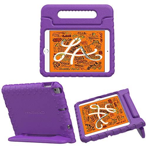 MoKo Schutzhülle für iPad Mini 2019/2015, 2019 / iPad Mini 4 2015, stoßfest, umwandelbarer Griff, leicht, mit Standfunktion, Violett (Ipad Defender Case 4. Generation)