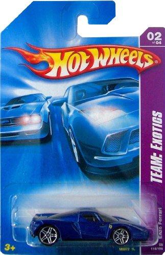 Mattel Hot Wheels 2008 1:64 Scale Team Exotics Blue Enzo Ferrari Die Cast Car #114
