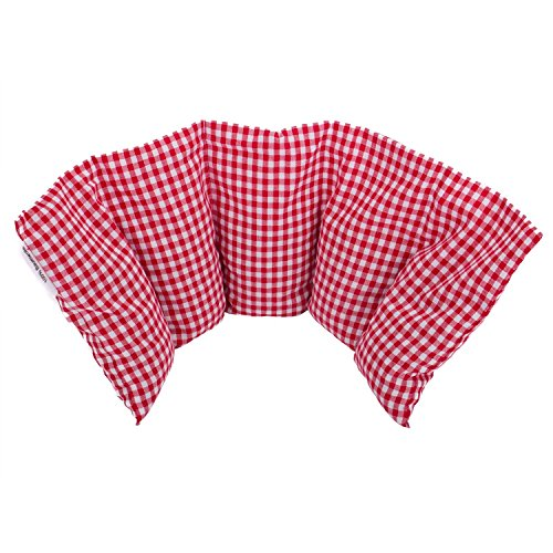Cuscino flessibile con noccioli di ciliegia 50x20 cm - Prodotto in Germania - Imbottitura: 800 grammi di noccioli di ciliegia; rivestimento: 100% cotone (rosso grande)
