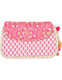 Clutch Handy Women's Clutch (White And Pink)