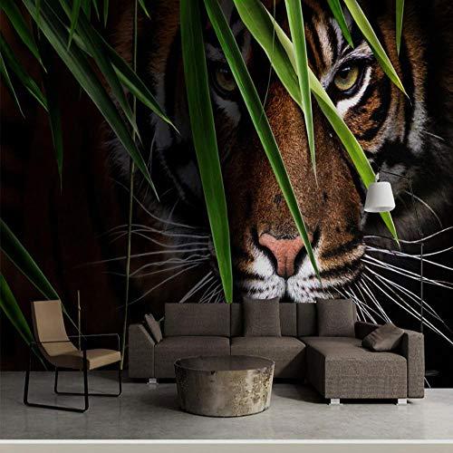 3D Tiger Wandbild Eingang Tiere Tv Hintergrundbild 3D Animal Wallpaper-366×254CM