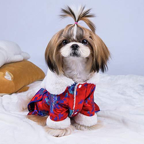 Dkings Hund Welpen Kleid, Herbst Winter Cute Kleidung Doggy Kostüme Dog Cat Dress Princess Warm Princess Dress - Cute Doggy Kostüm