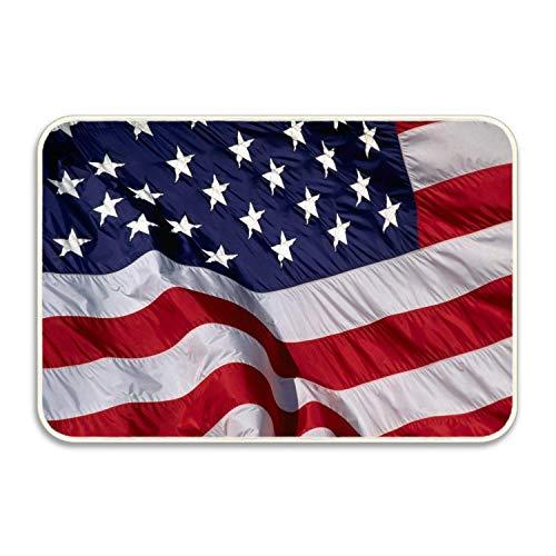 lijied Welcome Mat USA Flag Decorative Floor Mat Kitchen,Bathroom Doormat 9 Front Door mats Front Door mats