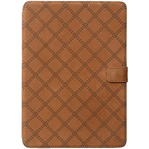 Zenus Apple iPad Air 2 diseño retro de funda de edredón vista [marrón] Vintage originales nobuck funda de piel con función atril para iPad Air