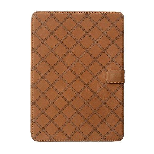 """Zenus Schutzhülle """"Vintage Quilt Diary"""" in braun für Apple iPad Air 2"""
