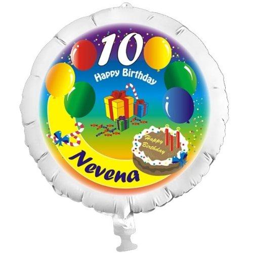 Personalisierter Foto-Ballon Luftballons mit eigenem Name und Alter, mit Helium befüllbar, in XXL, mit Heliumfüllung