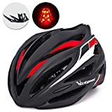 Victgoal Bike Helmet with Visor LED Taillight Insect Net Padded Road Mountain Bike