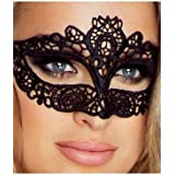 Provocative PR0040 One Size Black Sexy Embroidered Lace Mask