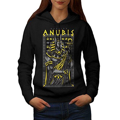 Anubis Alt Gott Mode Women M Kapuzenpullover | (Weibliche Kostüm Anubis)