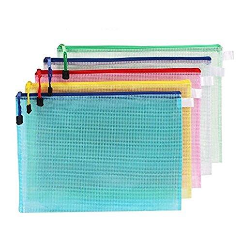 10 x Spaufu Datei Ordner Aktenbeutel Prospekthülle A3 Kunststoff Organizer Papierdokumente Zip-Datei Dokument Taschen für Büros Schulbedarf PVC