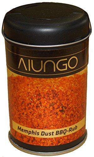 Viungo® Magic Dust Memphis 80g - BBQ-Rub Gewürzzubereitung - Grillgewürz / Grillmarinade zum marinieren von Fleisch, Steak und Grill Speisen - die Grillgewürzmischung BBQ Rub - Dose mit Box