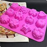 Generic Hot flower-shaped cake mold sili...