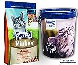 Happy Cat Minkas Geflügel 2 x 10 kg = 20 kg + 1 x Futtertonne Happy Cat 20 Liter