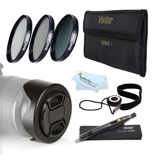 72MM Pro Lens Accessory Kit for Nikon D7100 D7000 D5200 D5100 D3200 D3100 D800 D700 D600 D300S D90 Canon EOS 5D Mark III EOS-1D X 6D 7D 60D T5i T4i SL1 T3i T3 EOS M DSLR - 72mm 3pc Filter Kit (UV CPL ND8 Neutral Density Filter) + More  available at amazon for Rs.4435
