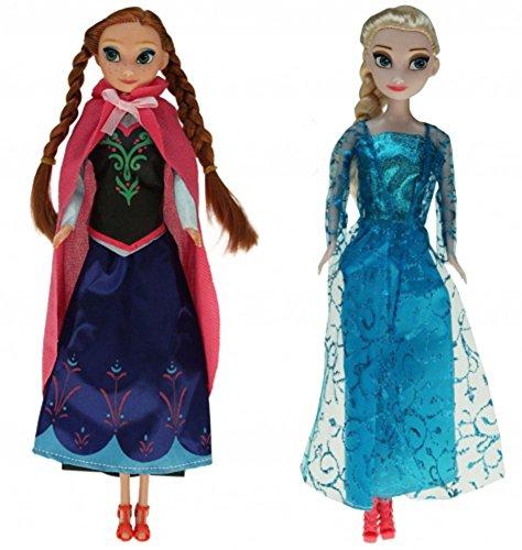 2 Puppen im Set, die Königlichen Schwestern Anna & Elsa