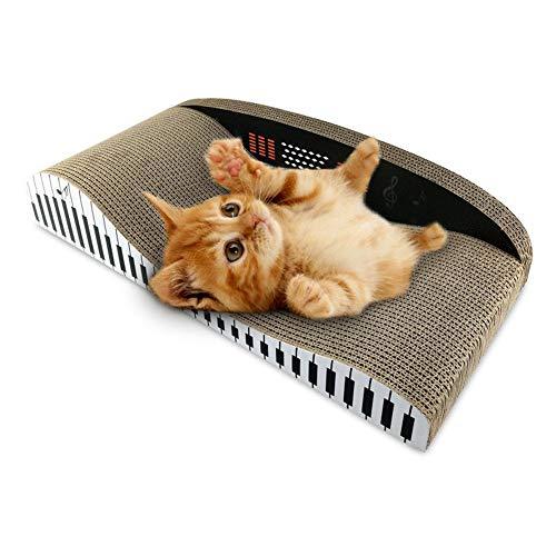 SUPERLOVE Wellpappe klavierförmige Rückenlehne Typ Sofa Cat Scratch Board Katze Schleifen Klaue Spielzeug Große Cat Nest