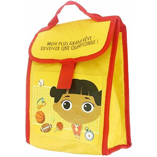 Promobo - Lunch Bag Sac Isotherme Fraicheur Enfant Champion Jaune