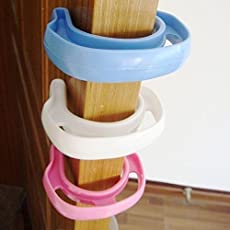 Store2508 (Pack of 4) Flexible Plastic Finger Pinch Guard. Door Stopper. for Child Safety.