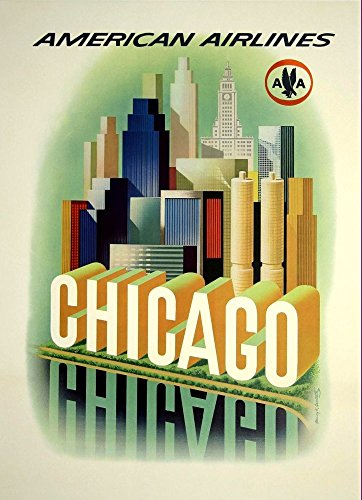 american-airlines-chicago-wonderful-a4-glossy-art-print-taken-from-a-rare-vintage-travel-poster