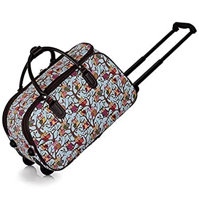 Ladies Travel Bags Holdall Womens Hand Luggage Owl Print Bag ...