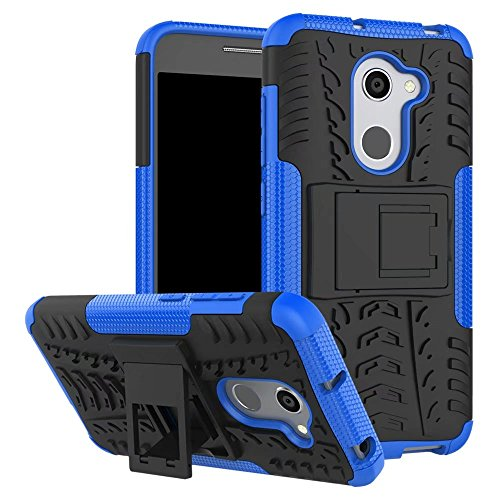 YHUISEN Alcatel A3 Case, Hyun Pattern Dual Layer Hybrid Armor Kickstand 2 in 1 Shockproof Case Cover für Alcatel A3 5.0 Zoll ( Color : White ) Blue