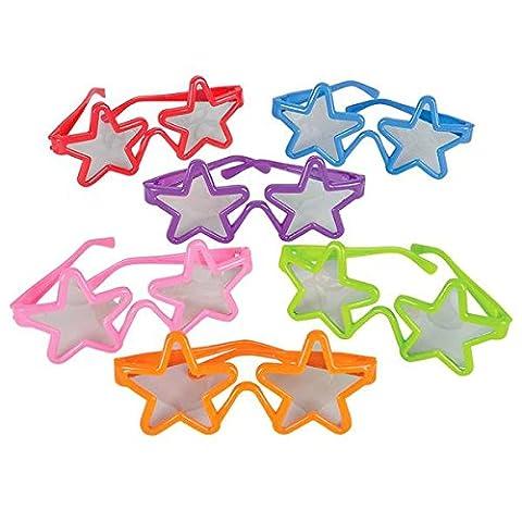 German Trendseller® - 12 x Party Sonnenbrillen für Kinder ┃ Stars ┃ Kindergeburtstag ┃ Mitgebsel ┃ 12
