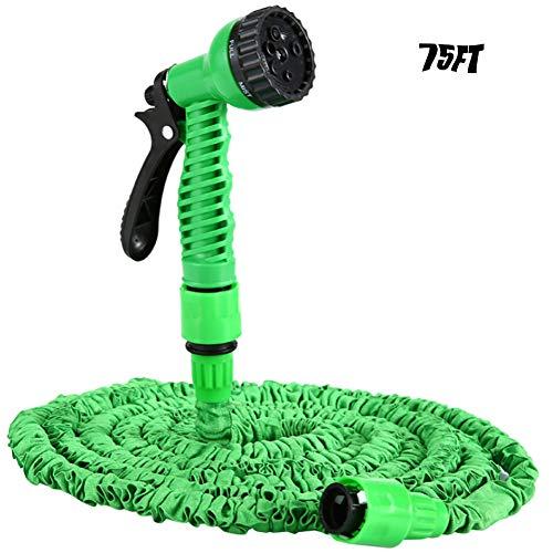 BEJshanshan Flexibler Gartenschlauch 75FT, Wasserschlauch Flexischlauch Bewässerung Stretch Schlauch Mit 7 Funktion Dehnbar Für Gartenbewässerung -